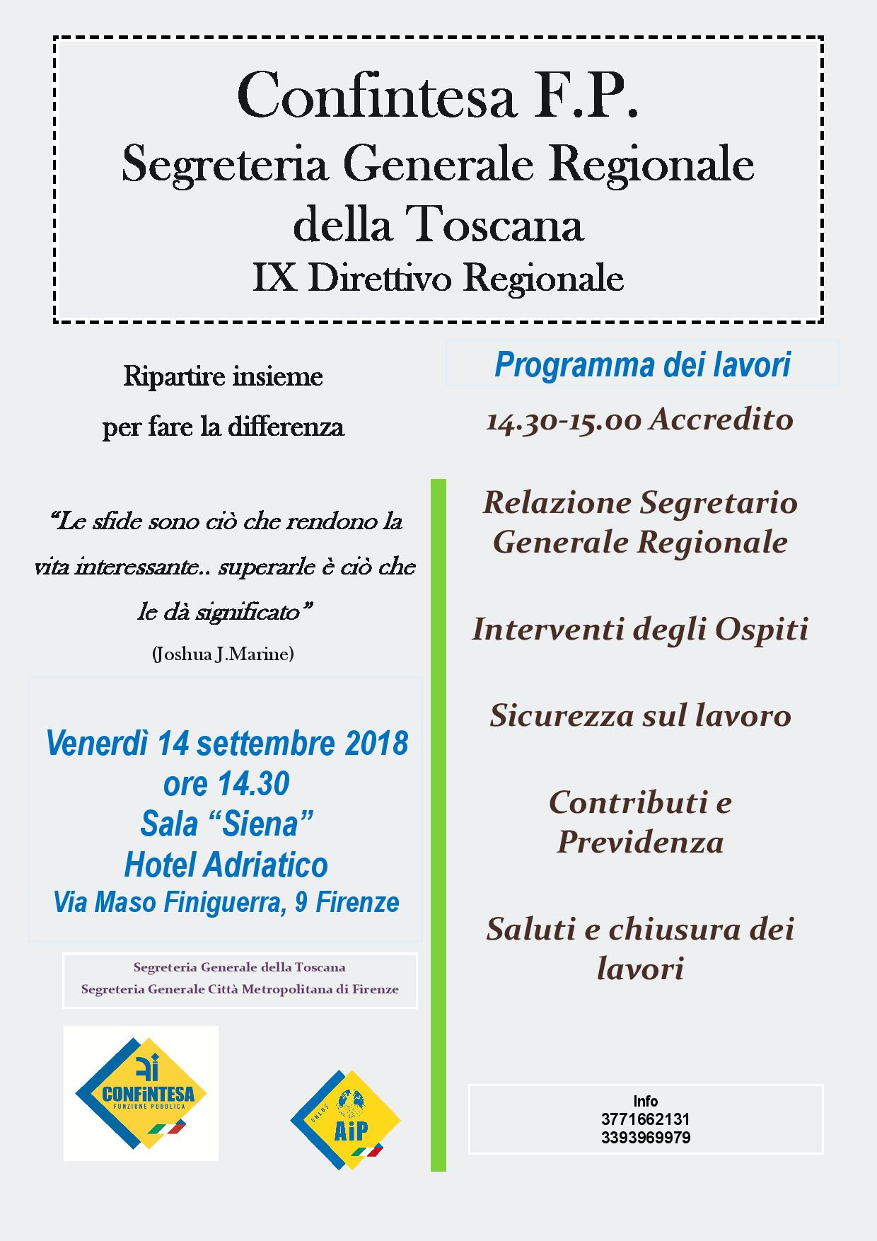 Conferenza di Organizzazione della Toscana e Direttivi Regionali e Provinciali